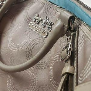 Coach Large Beige Satchel Bag Purse Handbag